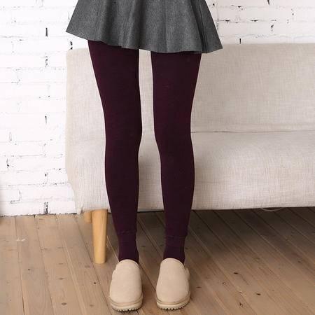 秋冬七彩棉打底裤 女加绒加厚中腰显瘦外穿一体裤 保暖裤