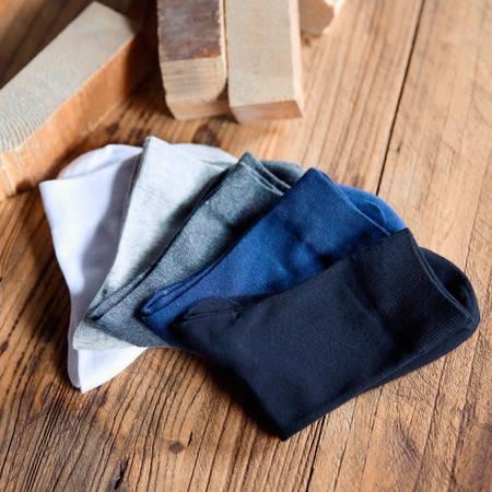 春秋季新款中筒棉袜 男士简约纯色棉袜5双装