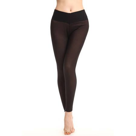 高度御寒显瘦打底裤 双层加厚加绒 女士中高腰保暖裤 女士