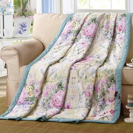 全棉夏被空调被芯 夏凉被子 纯棉单双人印花被子 可水洗