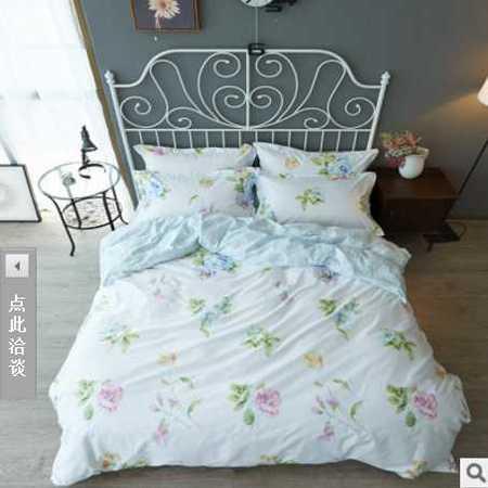 床上用品被枕套 最新款全棉四件套床单款100%纯棉小清新床品