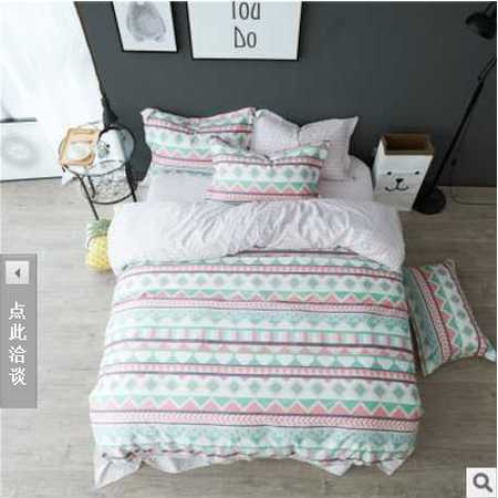 床上用品被枕套新款全棉四件套特大床笠款100%纯棉小清新床品