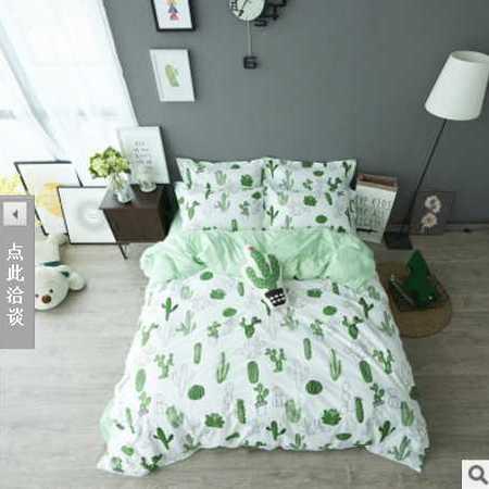 床上用品被枕套 最新款全棉四件套床单款纯棉小清新床品
