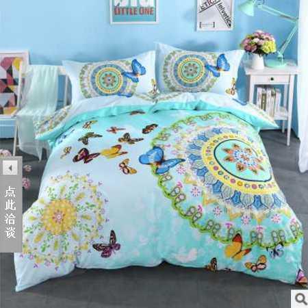 床上用品被枕套 新款全棉活性印花四件套标准款