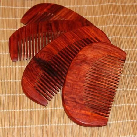 正宗印度小叶紫檀高油高密 老料半圆梳 实木梳子