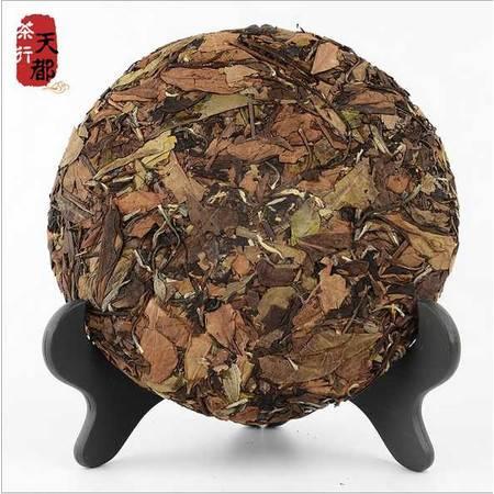 福鼎白茶寿眉饼350g 优质陈年高山养生茶 老白茶饼寿眉