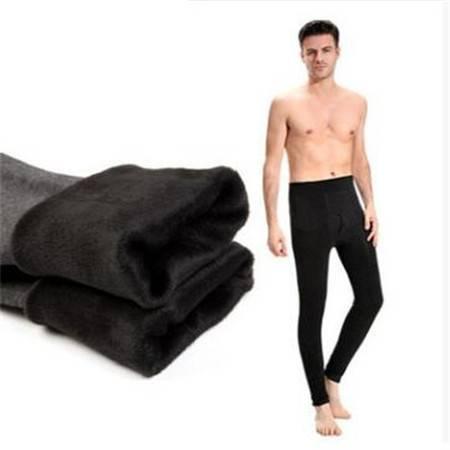 男士保暖裤单层加厚加绒秋裤打底裤男加大加肥保暖裤秋裤单件冬