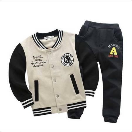 童装男童中小童时尚运动服套装外套长裤两件套