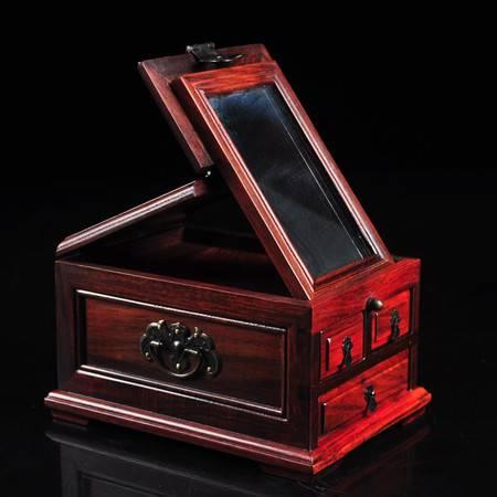 新款老挝红酸枝珠宝箱首饰盒镜箱化妆箱收纳盒摆件工艺礼品