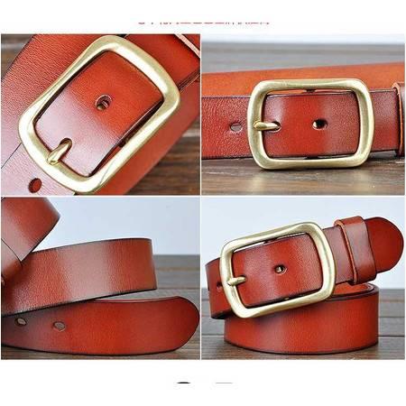 品牌铜扣腰带供应商老车轮男真皮皮带意大利进口头层牛皮腰带