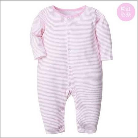 秋季婴儿衣服男女宝宝长袖平脚哈衣爬服新生儿纯棉连体衣