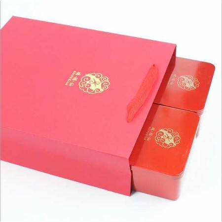 武夷山茶 大红袍 礼盒 浓香炭焙型乌龙茶铁盒装150克送礼