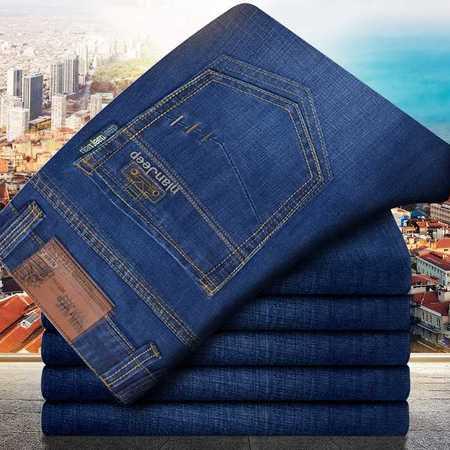 男装新款中腰直筒牛仔裤男士宽松商务休闲NZK长裤