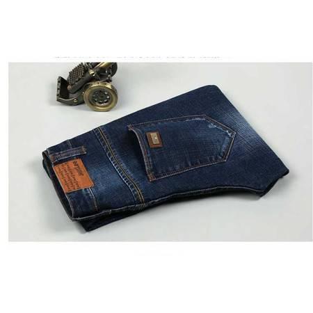 时尚直筒修身显瘦牛仔长裤子秋季新款男装厚款弹力牛仔