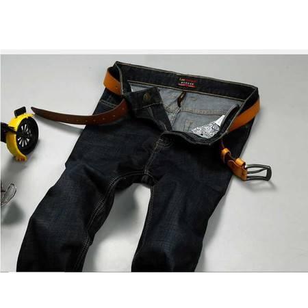 男式牛仔裤时尚直筒弹力牛仔长裤子秋装新款男装黑色潮
