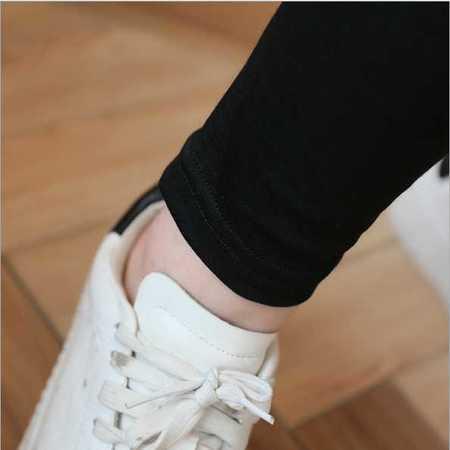 孕妇潮妈两件套春秋韩版新款时尚黑白条纹上衣+托腹裤子套装
