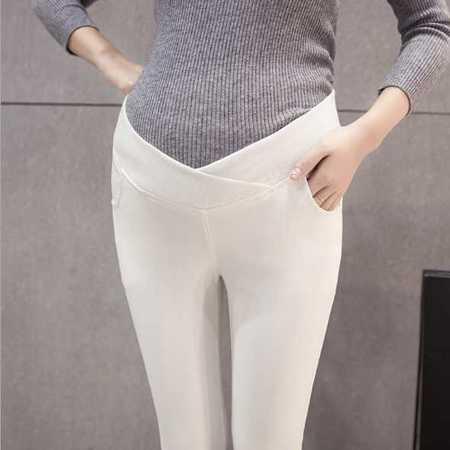 孕妇裤秋季外穿长裤怀孕托腹打底裤子时尚yfk修身低腰铅笔小脚裤