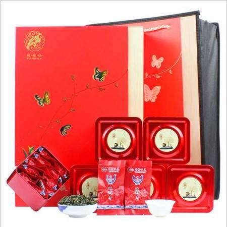 安溪铁观音茶清香型 高档礼盒装乌龙茶 红色礼盒 500g 伴手礼