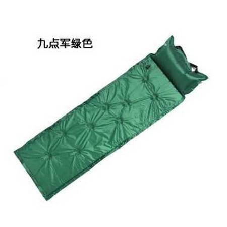 户外野营对折九点自动充气垫防潮垫带枕头 野餐垫