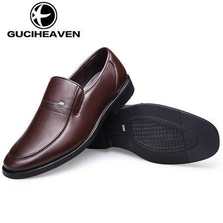 男士商务休闲皮鞋英伦潮流时尚秋季舒适透气套脚百搭男鞋