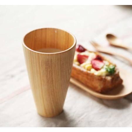 工艺杉木手工杯原木手工制作漱口杯木质水杯情侣刷牙杯子
