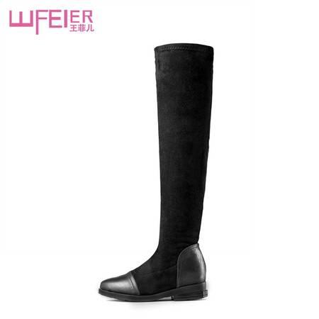 冬季内增高过膝长靴坡跟女靴靴子