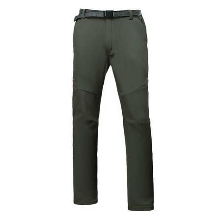 男装户外冲锋裤大码男士加绒保暖防水防风软壳裤