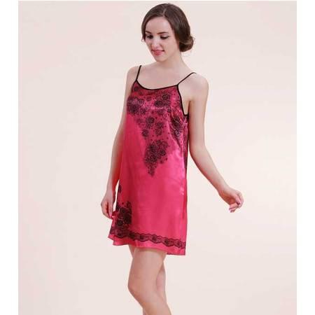 新款韩版仿真丝睡裙女士吊带裙