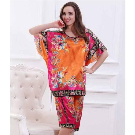 新款 原创设计独家发售 时尚撞色方巾夏季家居服套装女潮