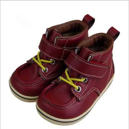 冬季新款婴儿鞋英伦风加绒宝宝皮鞋防滑男女儿童鞋新品