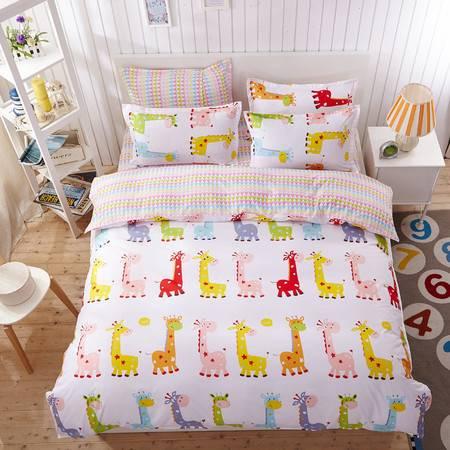 田园风格被单三件套纯棉简约被套床单美式全棉