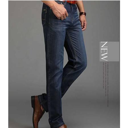 男式牛仔男裤子小直筒修身男裤春季新款长裤牛仔