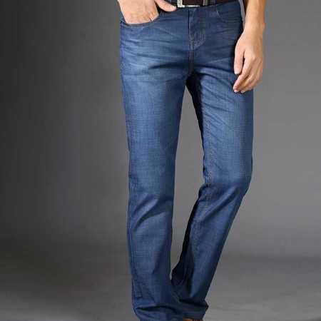 男式牛仔天丝莫代尔棉牛仔裤时尚直筒休闲男装