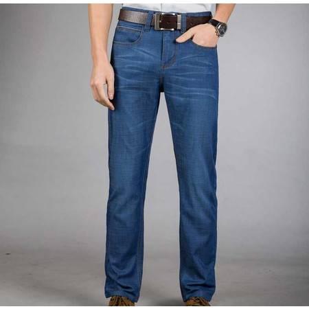 男式牛仔男裤子时尚直筒春夏薄款弹力裤