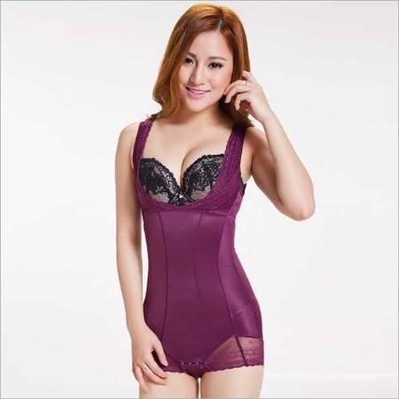 新款美体冰凉丝塑身衣 产后收腹提臀可调节舒适三角连体塑身衣