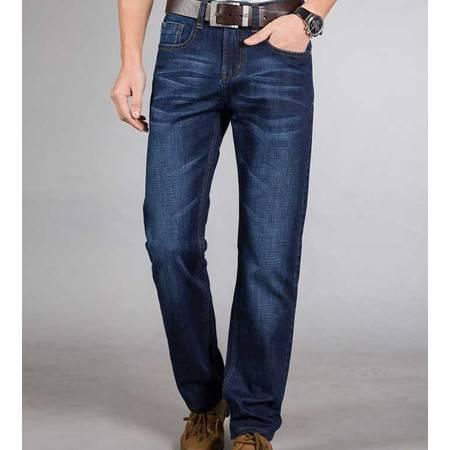 男式春夏薄款牛仔裤子时尚修身直筒大码牛仔长裤