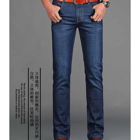 春季新款弹力牛仔裤薄款牛仔男裤修身直筒裤
