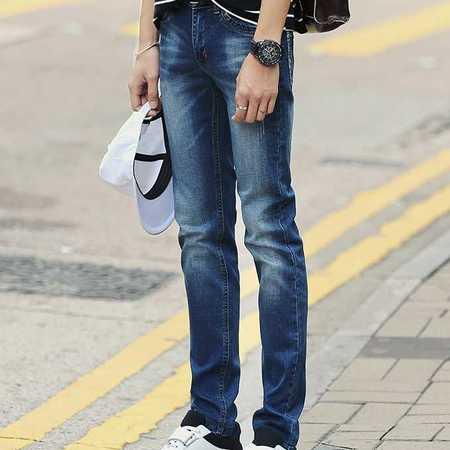 春季男装牛仔裤男式靓仔装水洗牛仔时尚韩版长裤一件代发青年男裤