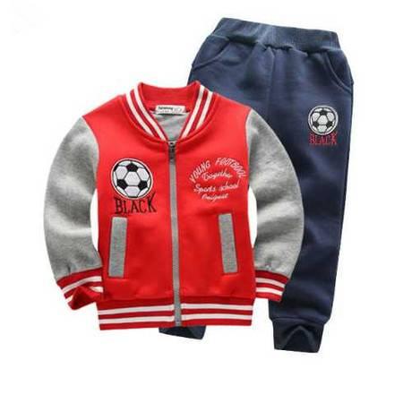 儿童运动套装 男女童足球学院运动两件套 纯棉童套装