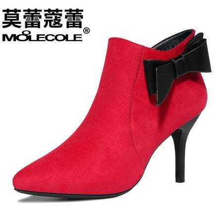 高跟鞋女细跟单鞋新款蝴蝶结尖头深口欧美女鞋子