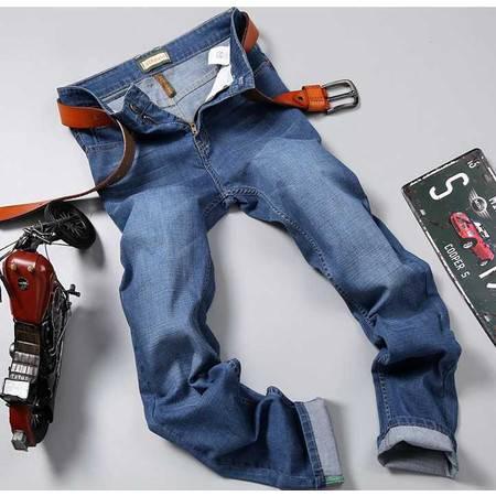 正品品牌男装裤子春夏薄款直筒大码休闲