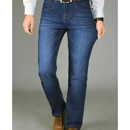 厚款男士牛仔微弹力牛仔长裤子秋冬新款男装品牌