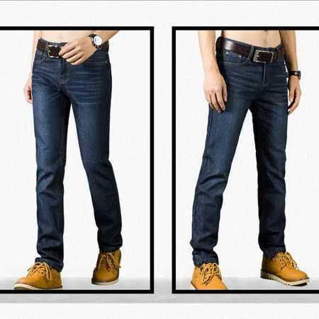 牛仔裤时尚直筒宽松大码牛仔长裤子加绒厚款