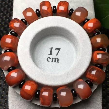 新款正宗天然四川凉山南红玛瑙手串水晶饰品柿子红手链女14.3mm