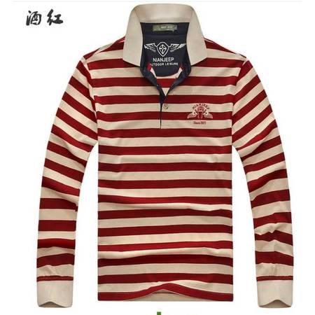 秋季新款男式长袖T恤 纯棉弹力男T恤 外贸男式T恤