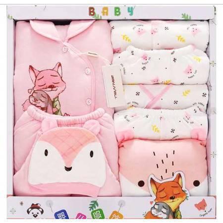 秋冬季婴儿衣服新生儿礼盒加厚保暖初生满月宝宝棉衣套装母婴用品