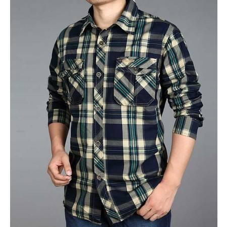 新款士村衫 棉质格子户外高品质商务时尚正品