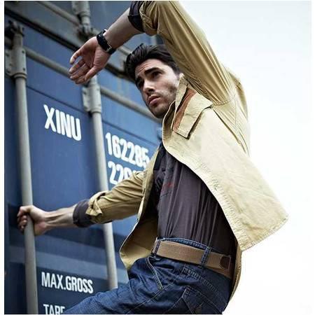 品牌男装  正品  纯棉休闲 长袖衬衫 男式 衬衫