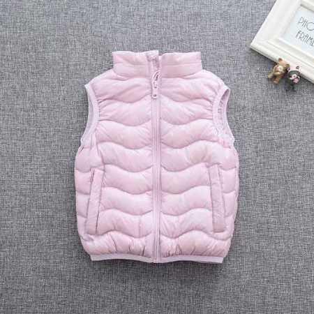 冬款童装原单韩版儿童羽绒服男女童羽绒马甲外套
