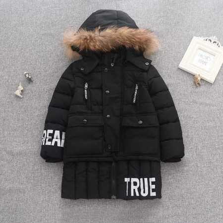 秋冬新款童装韩版儿童棉服外套男童中长款童棉衣